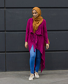 Verona Collection Draped Open-Front Cardigan