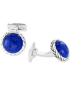 EFFY® Men's Malachite Cuff Links in Sterling Silver (Also in Lapis Lazuli)