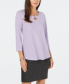 Alfani Keyhole High-Low Top, Created for Macy's