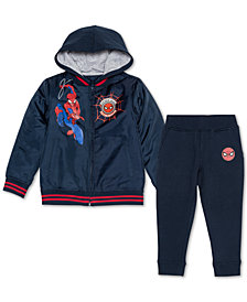 Marvel Little Boys 2-Pc. Spider-Man Varsity Jacket & Joggers Set