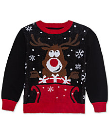 Jem Toddler Boys Reindeer Sweater