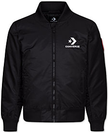 Converse Big Boys Zip-Front Bomber Jacket