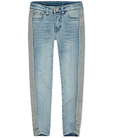 Levi's® Little Girls 710 Super Skinny Glitter-Stripe Jeans