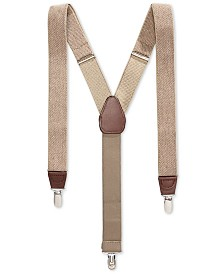 Club Room Men's Heathered Suspenders, Created for Macy's