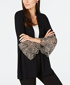 Alfani Lace-Cuff Cardigan, Created for Macy's