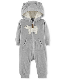 Carter's Baby Boys Hooded Bear Fleece Coverall