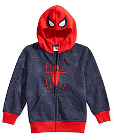 Marvel Little Boys Spider-Man Mask Hoodie