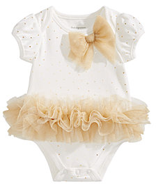 First Impressions Baby Girls Tulle Tutu & Bow Bodysuit, Created for Macy's