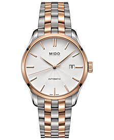Mido Men's Swiss Belluna II Two-Tone PVD Stainless Steel Bracelet Watch 40mm