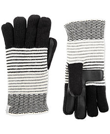 Isotoner Signature Striped Knit Touchscreen Gloves