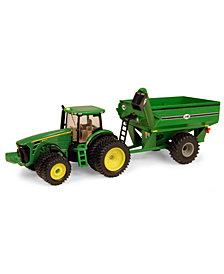 Tomy - 164 John Deere 8320R Tractor With J And M Grain Cart