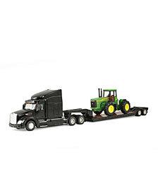 Tomy - John Deere Big Farm 1-32 Peterbilt Model 579 Semi With John Deere 4 Wheel Drive Tractor