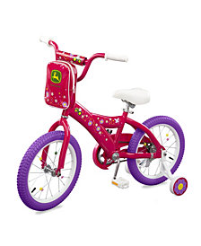 """Tomy - John Deere 16""""Girls Bicycle, Pink"""