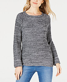 Style & Co Scoop-Neck Marled Sweater, Created for Macy's