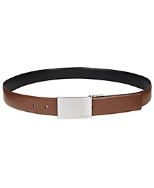 Men's Reversible Leather Plaque Belt