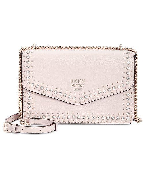 9159391d23b0 ... DKNY Whitney Leather Studded Flap Shoulder Bag