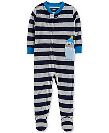 Carter's Baby Boys Striped Walrus Footed Pajamas