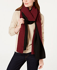 Calvin Klein Double-Faced Pleated Blanket Scarf