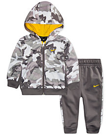 Nike Baby Boys 2-Pc. Therma-FIT Camo Jacket & Pants Set