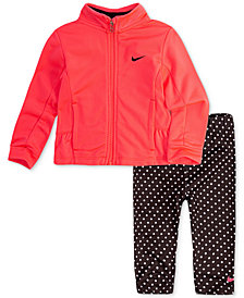 Nike Baby Girls 2-Pc. Peplum Jacket & Dot-Print Leggings Set