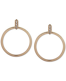 Ivanka Trump Crystal Drop Hoop Earrings