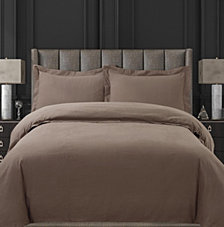 Cotton Flannel Solid Oversized Queen Duvet Set