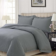 Heavyweight Flannel Solid Oversized King Duvet Set