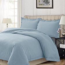 Heavyweight Flannel Solid Oversized Queen Duvet Set
