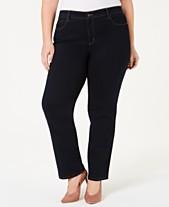 c2dd9257324 Charter Club Plus Size   Petite Plus Size Lexington Tummy-Control Straight-Leg  Jeans