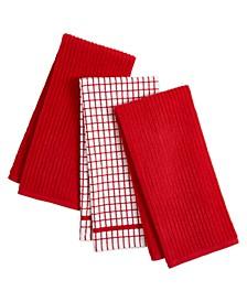 3-Pc. Organic Cotton Kitchen Towel Set