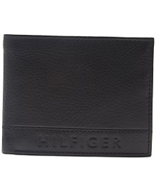 Tommy Hilfiger Men's RFID Pebbled Leather Wallet