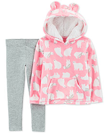 Carter's Baby Girls 2-Pc. Polar Bear-Print Hoodie & Leggings Set