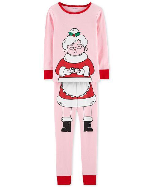 662852daa4 Carter s Baby Girls 2-Pc. Snug-Fit Mrs. Claus Cotton Pajamas Set ...