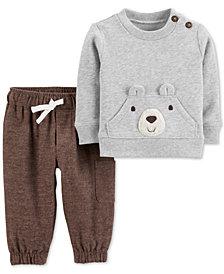 Carter's Baby Boys 2-Pc. Bear Sweatshirt & Printed Pants Set