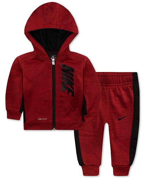 d8ba4148bb Nike Baby Boys 2-Pc. Therma-FIT Striped Jacket & Pants Set ...