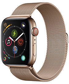 AppleWatch Series4 GPS+Cellular, 44mm Gold Stainless Steel Case with Gold Milanese Loop