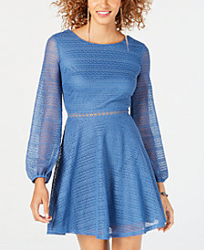 City Studios Juniors' Knit Fit & Flare Dress