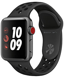 Apple Watch Nike+ Series 3 GPS + Cellular, 38mm Space Gray Aluminum Case with Anthracite/Black Nike Sport Band