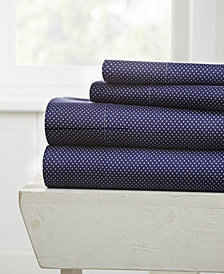 Home Collection Premium Ultra Soft My Heart Pattern 4 Piece Bed Sheet Set