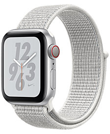 AppleWatch Nike+ Series4 GPS+Cellular, 40mm Silver Aluminum Case with Summit White Nike Sport Loop