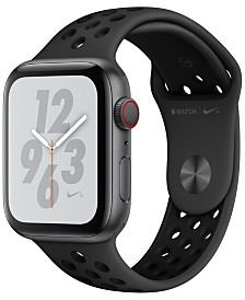 Apple Watch Nike+ Series 4 GPS + Cellular, 44mm Space Gray Aluminum Case with Anthracite Black Nike Sport Band