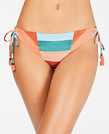 Lucky Brand Block Party Printed Loop Tie-Side Hipster Bottoms