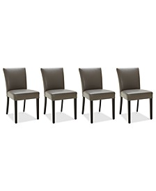 Tate Leather Parsons Dining Chair, 4-Pc. Set (4 Side Chairs)