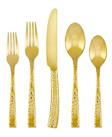 Argent Orfèvres Paris Hammered Gold 20-Pc. Flatware Set, Service for 4