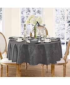 "Elrene Barcelona Gray 90"" Round Tablecloth"