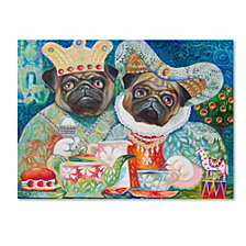 Oxana Ziaka 'King of Pugs' Canvas Art Collection