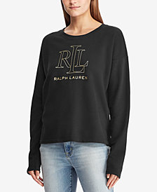 Lauren Ralph Lauren  Petite Logo Graphic French Terry Pullover