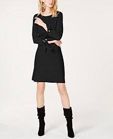 I.N.C. Grommet Bell-Sleeve Sweater Dress, Created for Macy's
