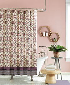 Jessica Simpson Lola Lined Cotton Shower Curtain