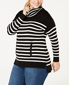 Charter Club Plus Size Cowl-Neck Sweater, Created for Macy's